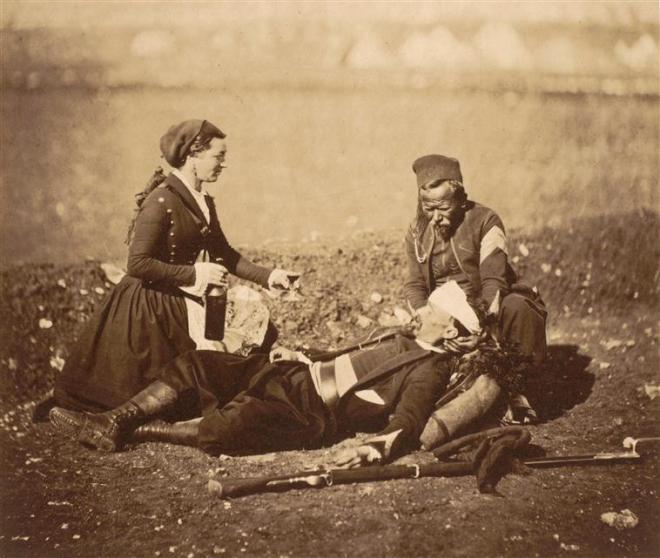 Fotografie realizată de Roger Fenton pe frontul din Crimeea, în 1855