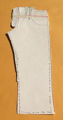 Fold out the fly shield, tape into place, and do your final trim.