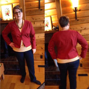 elaine red jacket