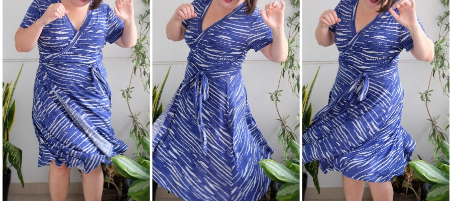 Pattern Review: Wardrobe by Me Curvy Diana Wrap Dress