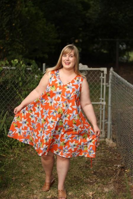 Idle Fancy - Papercut Sway Dress - Orange Tropical Floral (26)