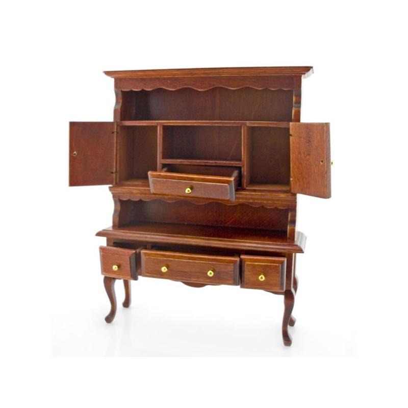 kitchen walnut queen ann cupboard dollhouse furniture dollhouse furniture kitchen set melissa doug