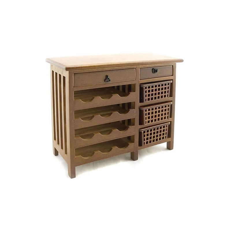 kitchen wine walnut cabinet drawer dollhouse furniture dollhouse furniture kitchen set melissa doug