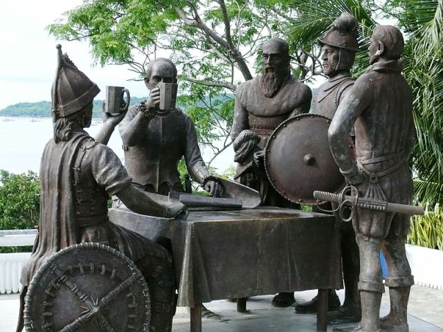 Blood Compact Site Statue in Bohol