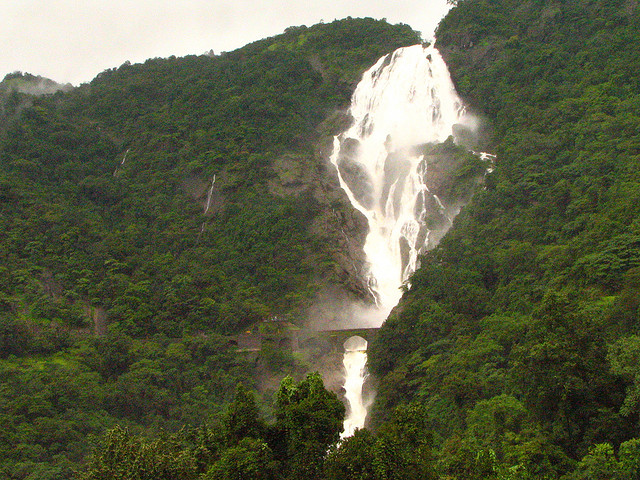 waterfalls, goa, inda