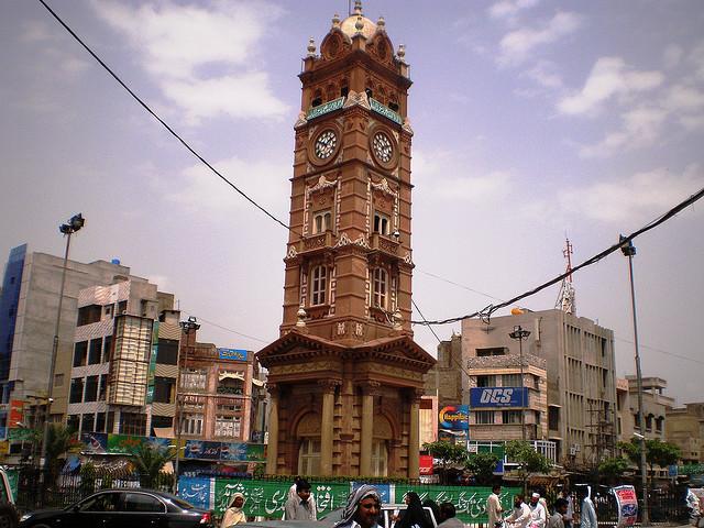 faisalabad, pakistan, clock tower