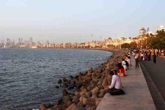 beach, marine drive, mumbai, india