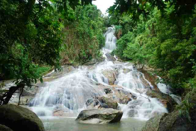waterfalls, samui, thailand