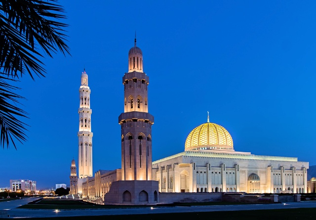 sultan qaboos grand mosque, oman, muscat