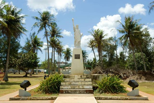 statue of liberty, guam, pacific