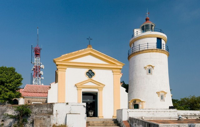 guia fortress, military, maritime, lighthouse, macau