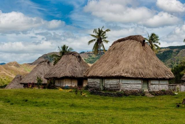 traditional village, fiji, navala