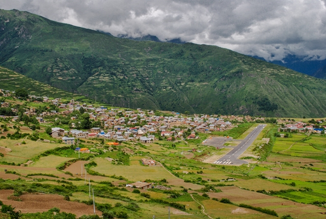 humla, nepal, remote town
