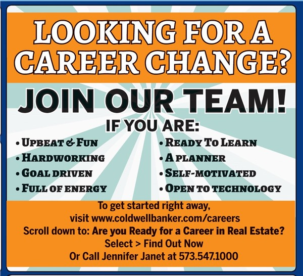 Coldwell Banker Professional Associates Blog - Career Articles - looking for a career change