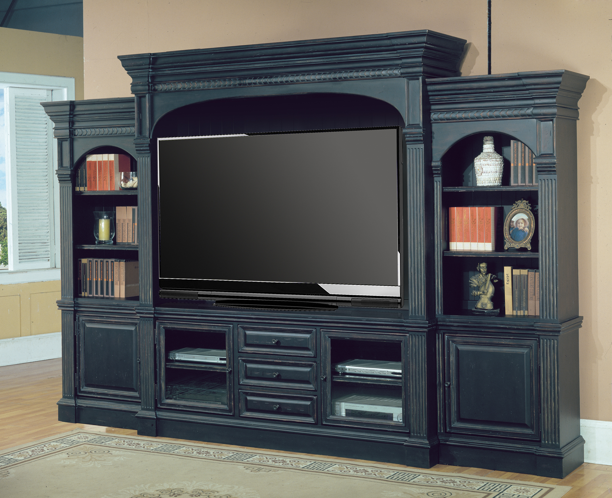 Entertainment Centers Vintage Look Entertainment Center | Custom Cabinets