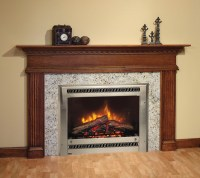Contemporary electric fireplace on Custom-Fireplace ...