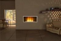 Frameless gas fireplace insert on Custom-Fireplace ...