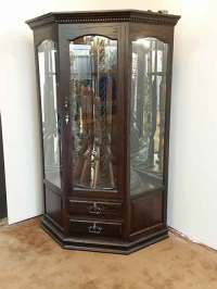 Custom Corner Gun Cabinet - Amish Custom Gun Cabinets