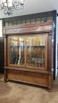 Amish Custom Antique Reproduction Gun Cabinet - Amish ...