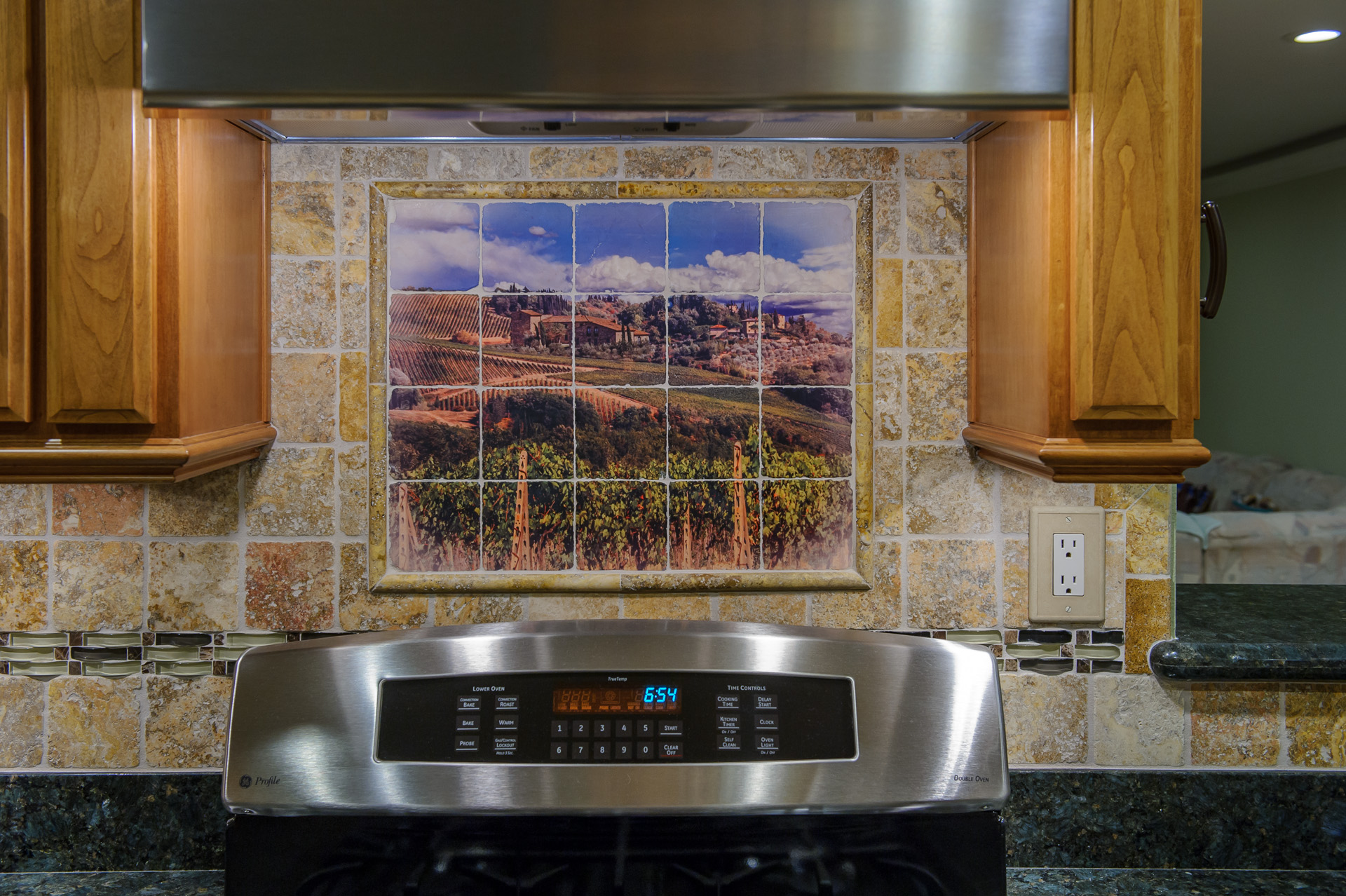 100 murals for kitchen backsplash how kitchen for Custom photo tile mural