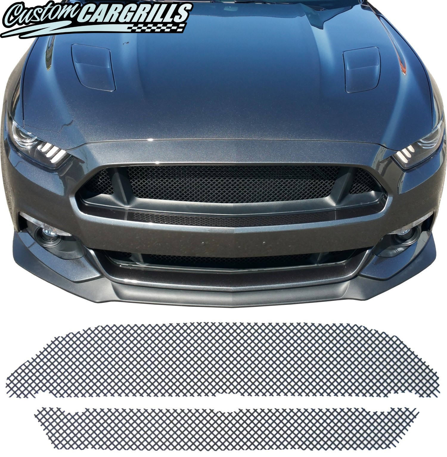 2015 Mustang Gt Pictures Woven Mesh Grill Kit For 2015 2017 Ford Mustang Gt