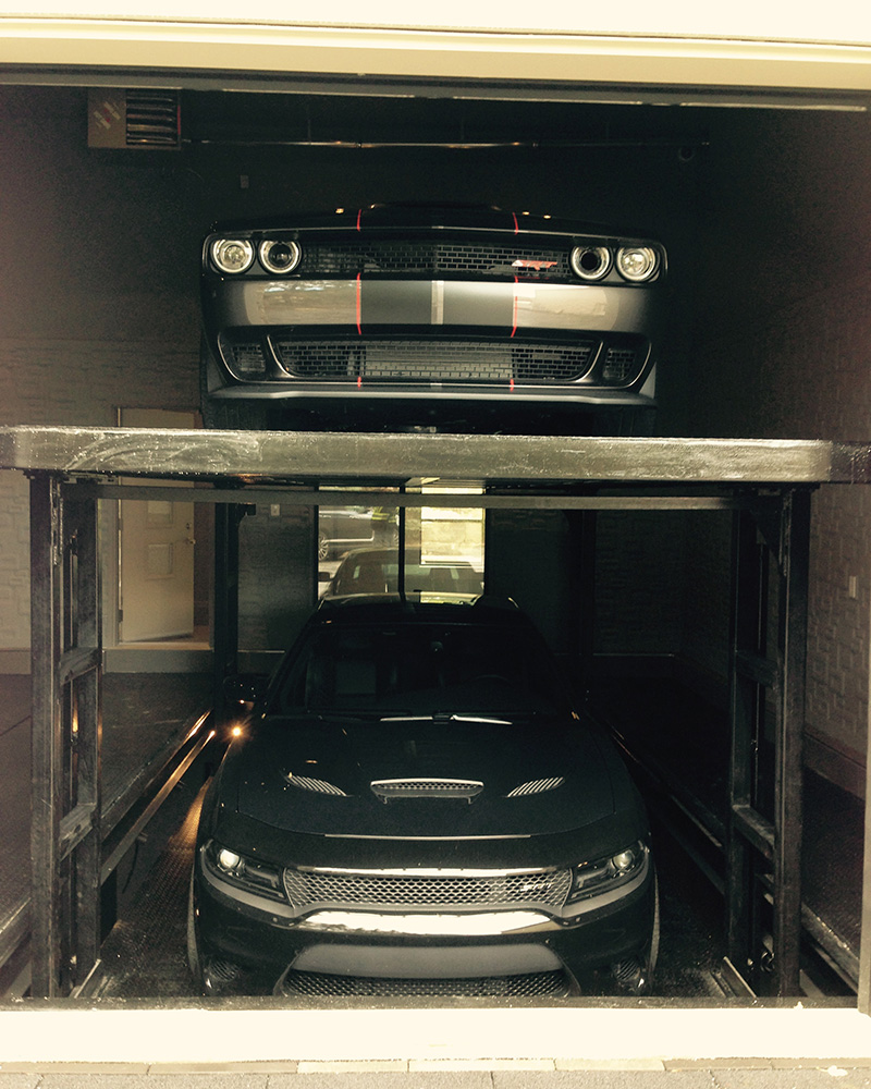 Car Lift To Basement Garage Product Romax Custom Parking Solutions