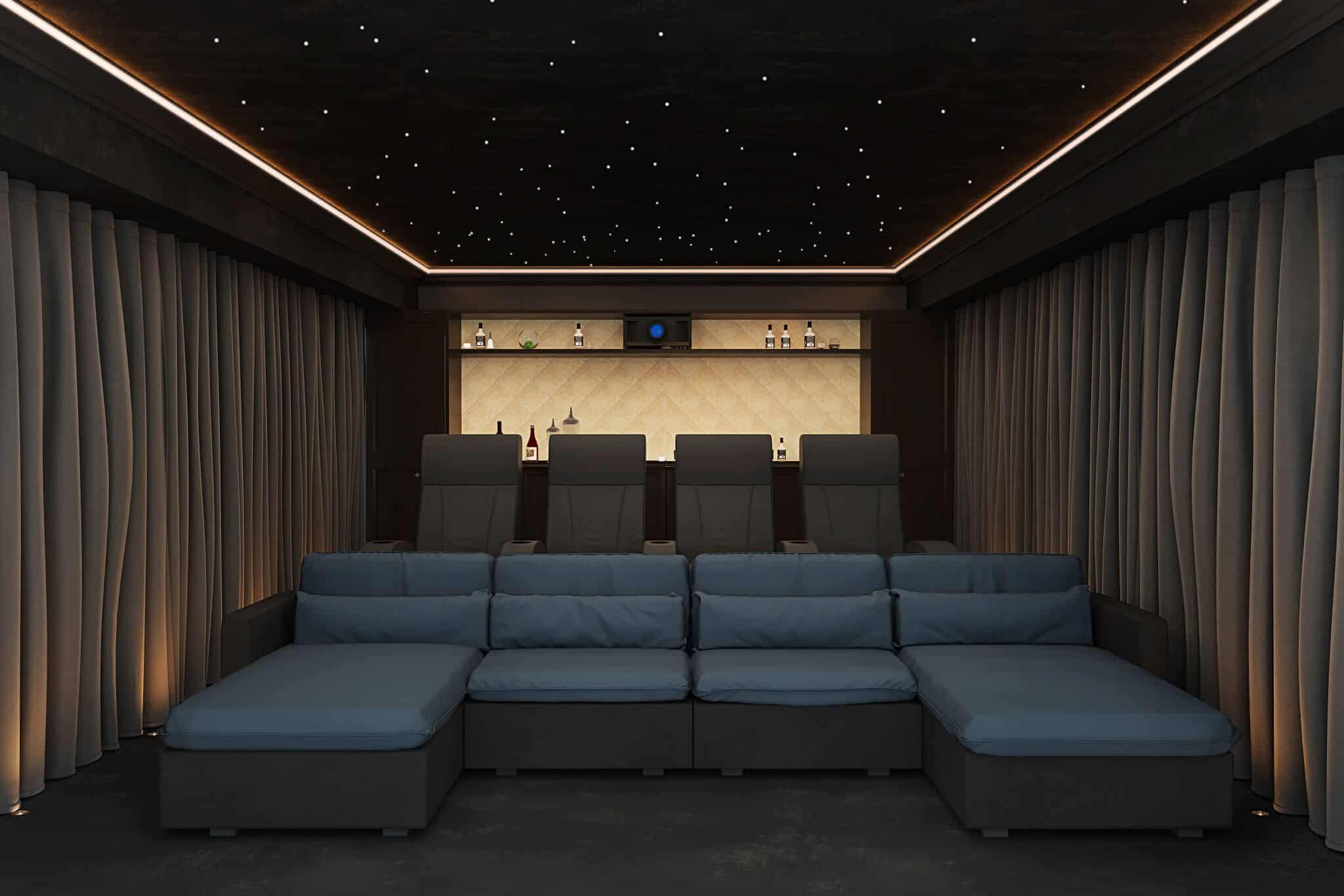 Case Study Garden Home Cinema Room In Cheshire Customcontrols
