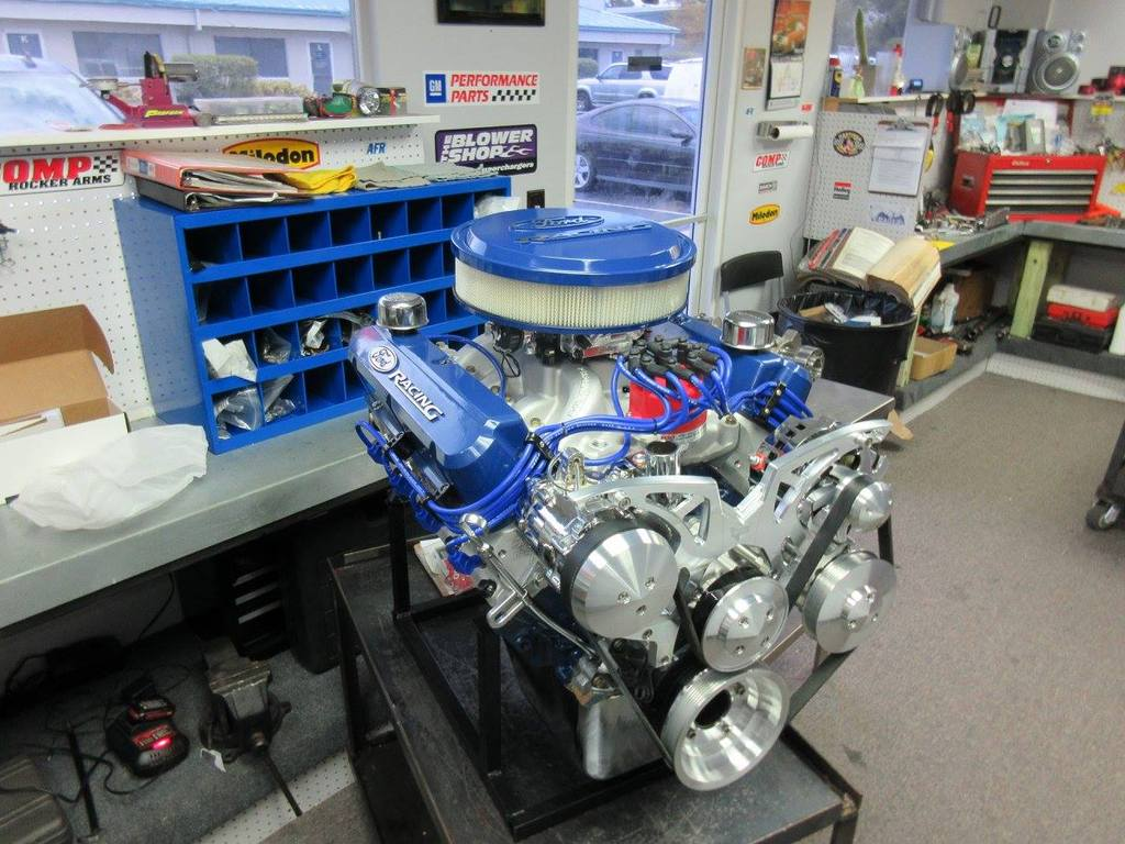 Crate Motors 347 Ford Stroker Full Roller Crate Engine With 450 Hp