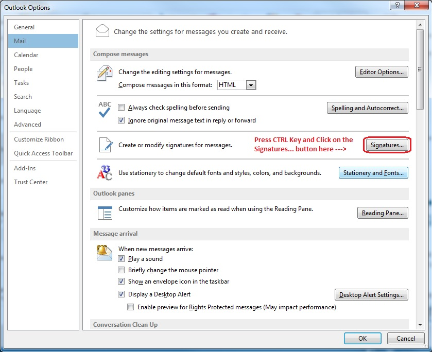 How to Backup and Move Outlook Signatures between computers - MS