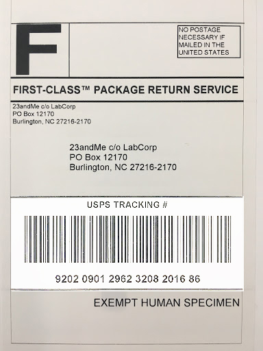 Returning your sample to the lab \u2013 23andMe Customer Care - Sample Return Address Label