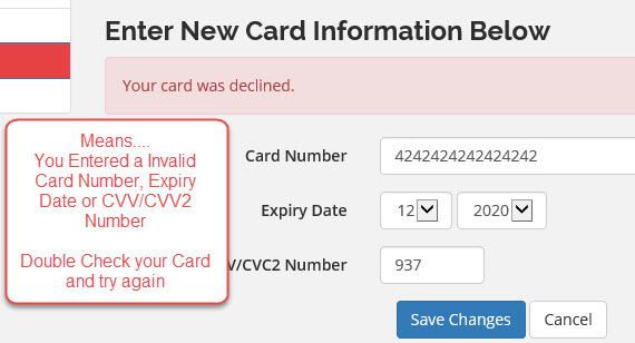 How do I change or add a Debit / Credit Card on my account