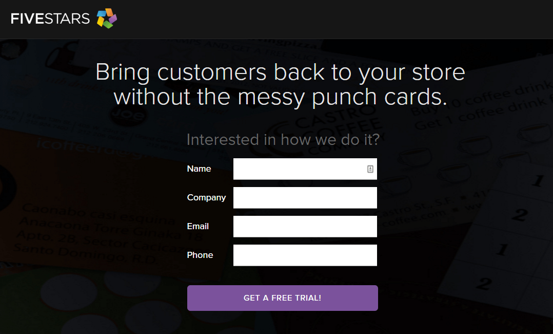 Bring customers back to your store without the messy punchards