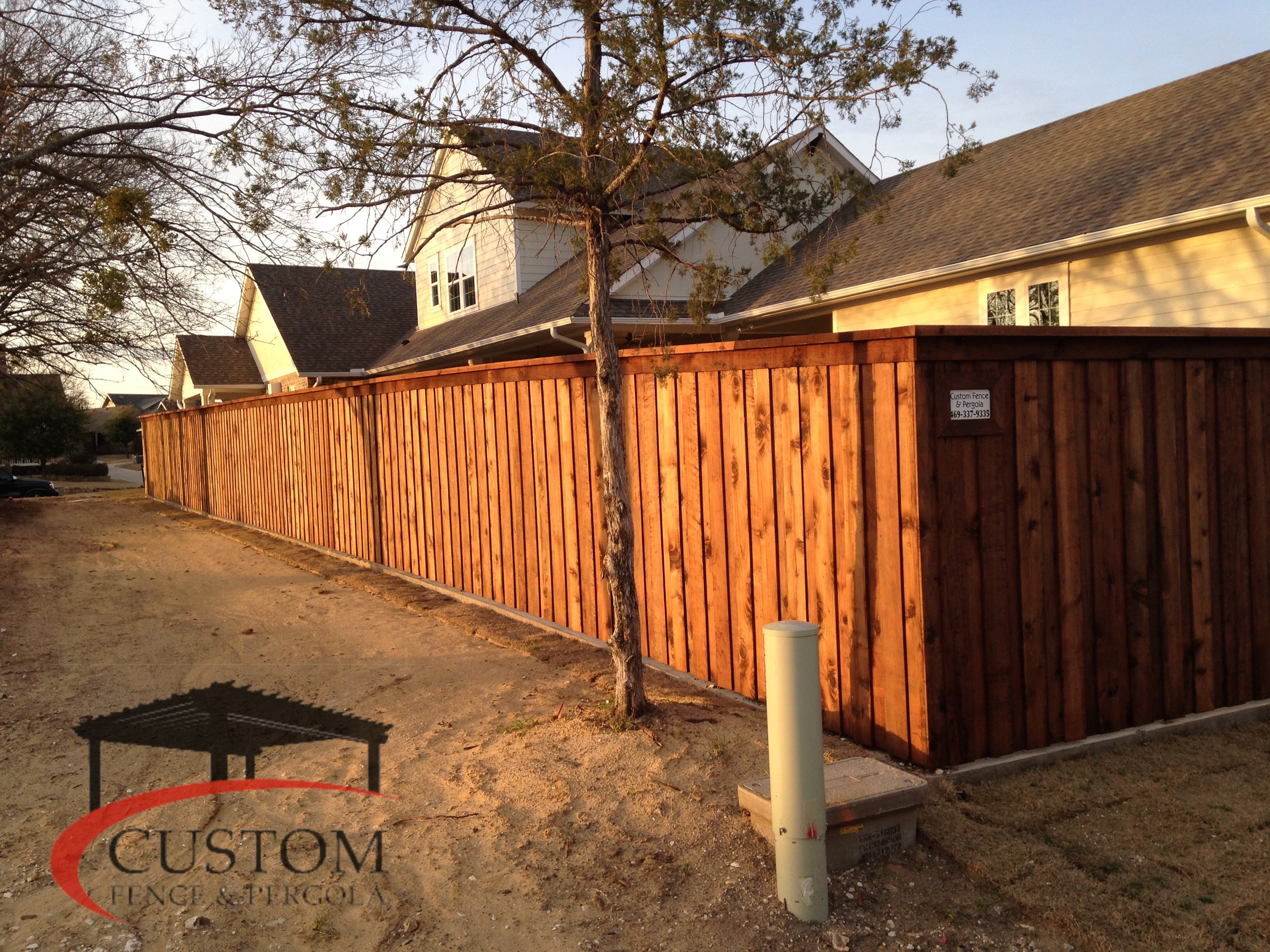Cando Click Vinyl Residential Cedar Fencing In Midlothian Wood Fences