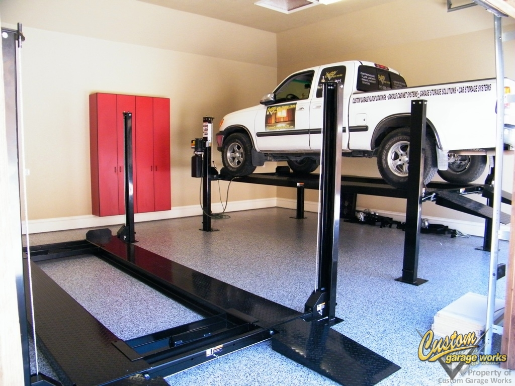 Car Lift To Basement Garage Garage Car Lifts Installed By Custom Garage Works In Fort Worth Tx