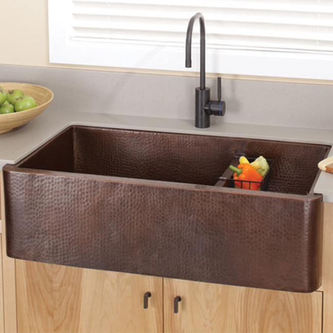 Farmhouse Apron Copper Kitchen Sink By Premier Copper