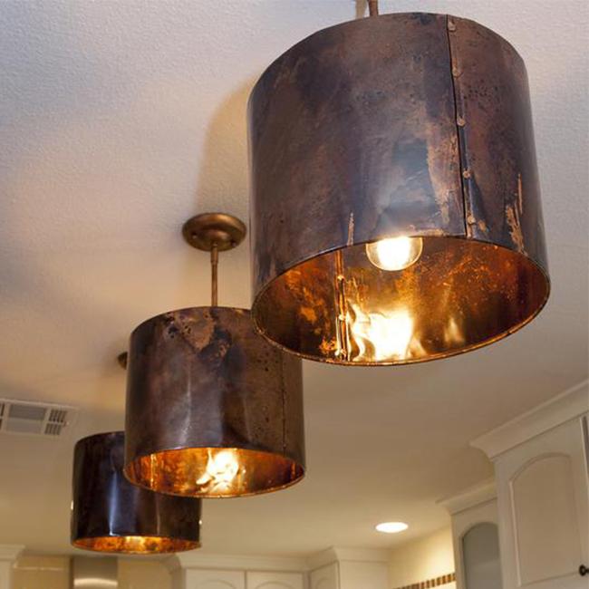 Mediterranean Kitchen copper pendant light