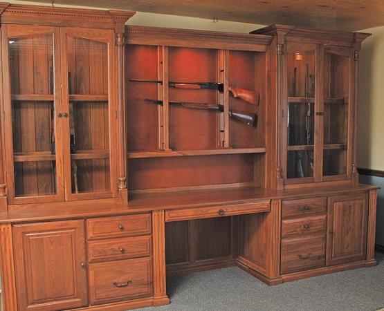Custom Gun Cabinets   GunSafe   Amish Custom Gun Cabinets