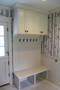 Mudroom Entryway with Doors - Custom Home Finish