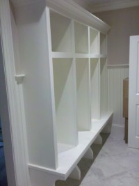 Mudroom Lockers - Custom Home Finish
