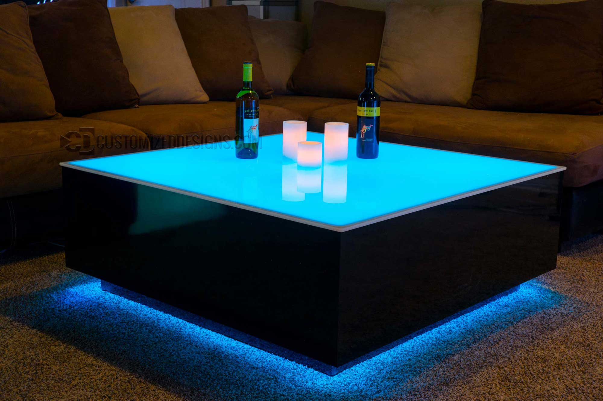 Led Couchtisch Cubix Series 44 Quot X 44 Quot Led Lighted Coffee Table Lounge