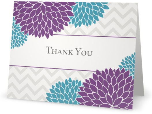 floral design thank you cards - Custom Printing Deals!