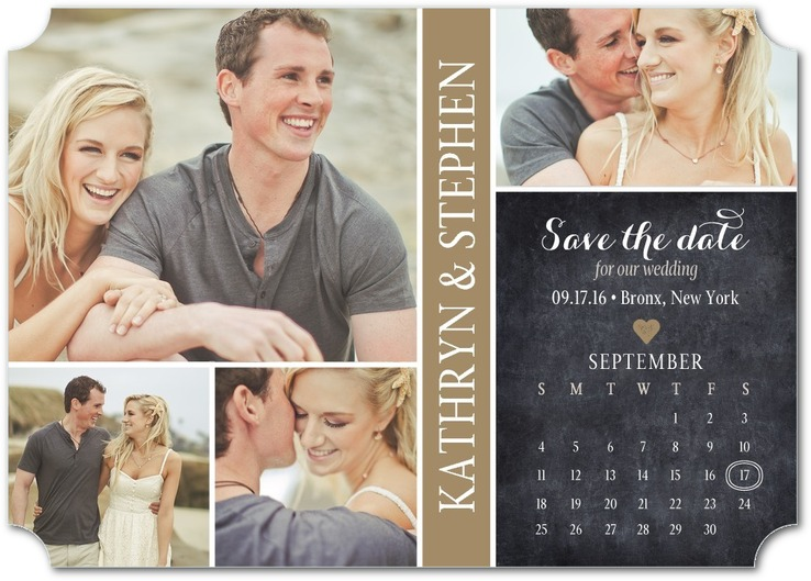 sample save date design calendar - Custom Printing Deals