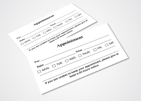 Business Marketing  Appointment Cards