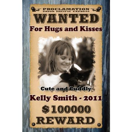 Wanted Posters Personalized Wanted Posters with your photo and text - example of a wanted poster