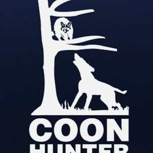 coon hunting coloring pages - up a tree coon hunting vinyl decal stickers custom