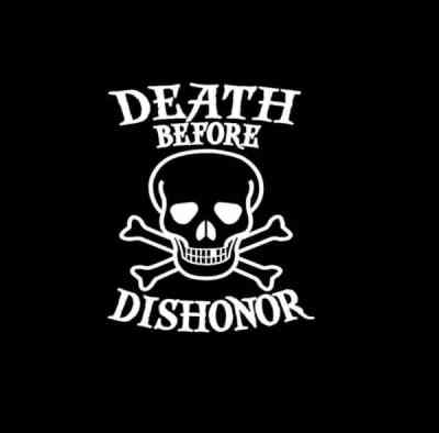 Death Before Dishonor Skull Vinyl Decal Stickers a1
