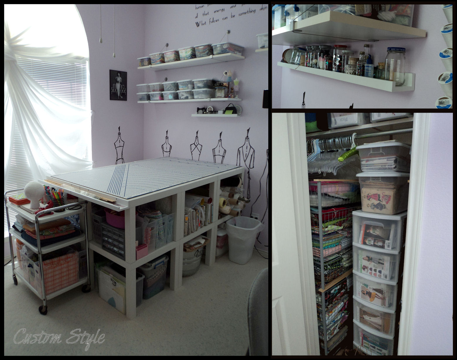 Ikea Expedit Cut In Half How I Organized My Sewing Room Custom Style