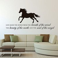 """Horse Vinyl Wall Decal """"God Made the Horse"""" With Horse ..."""