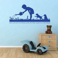 Dog Wall Decals - Dog Lover Gifts - Dog Decor - Vinyl Wall ...