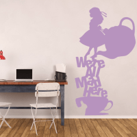 Alice In Wonderland Wall Decal Tea Party ...